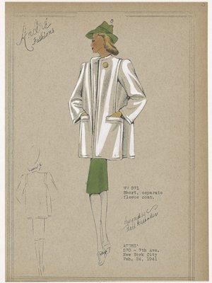 Short, seperate fleece coat.