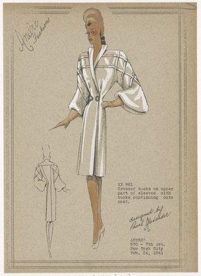 Cross-tucked coat.