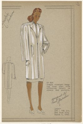 Boxy coat with stitching detail