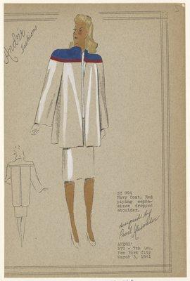 Navy coat.