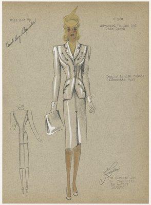 Longer length Pencil Silhouette Suit.