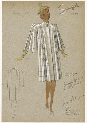 Coolie coat of plaid.