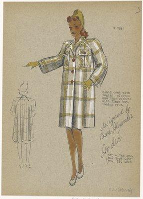Boxy plaid coat.