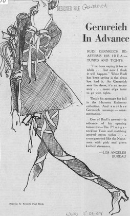 Gernreich in Advance: Rudi Gernreich Reaffirms His Idea - Tunics and Tights
