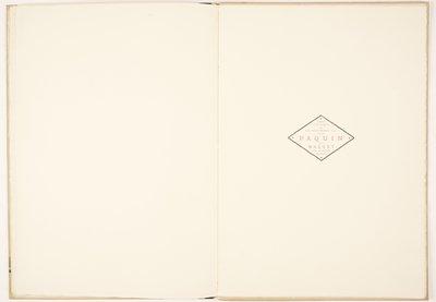L'Eventail et la fourrure chez Paquin [Fans and Furs at Paquin]; Imprint page
