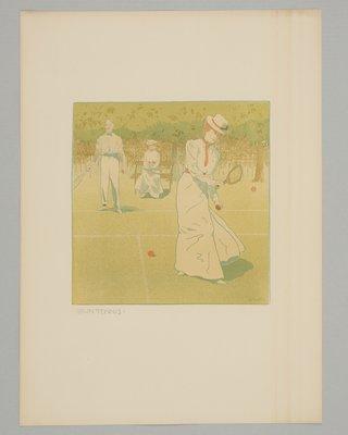 Der Tage einer Dame Plate, Lawn Tennis