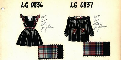 Girl's Pinafore and Smock