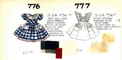 Girl's Dress and Pinafore