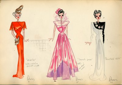 Three Women in Evening Gowns