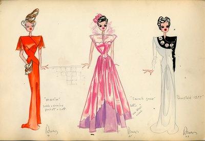 Three Women in Evening Gowns
