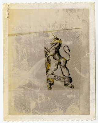 Polaroid of Heraldic Unicorn