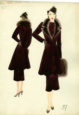 Original Sketch by Muriel King, Winter 1936-1937