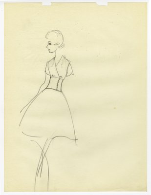 Sketch of Day Dress