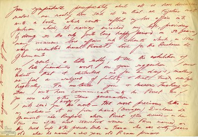 Handwritten Letter by Charles James