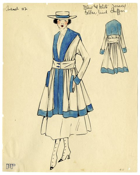 Original Illustration of a Woman in a Chanel Day Suit