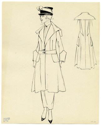 Original Fashion sketch from A. Beller & Co.