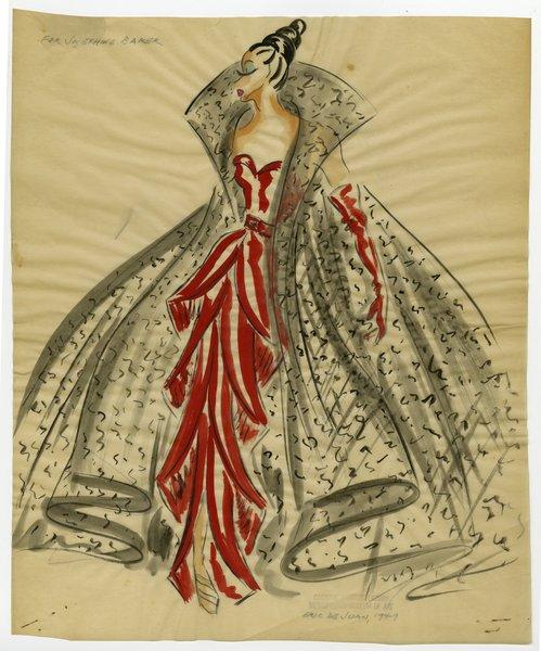 Original Sketch by Eric De Juan for Josephine Baker's Stage Costumes