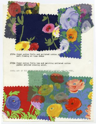 Notebook Paper With Printed Floral Fabric Swatches