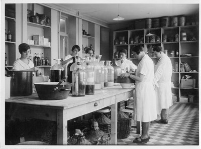 Staff in the laboratory