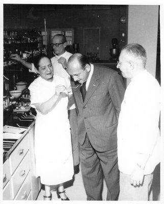 Helena Rubinstein testing fragrance