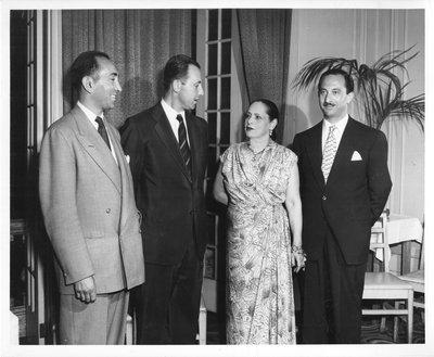 Helena Rubinstein, Henri Kolin, Roy Titus, and Oscar Kolin in Canada