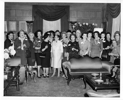 Helena Rubinstein cosmeticians in her Park Avenue apartment