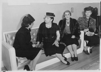 Helena Rubinstein at Mme. Mondrian's Salon, Paris
