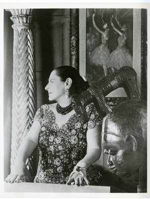 Helena Rubinstein with Degas painting