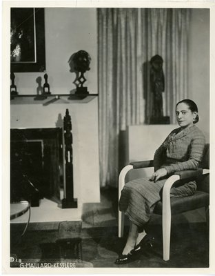 Helena Rubinstein in her Paris apartment