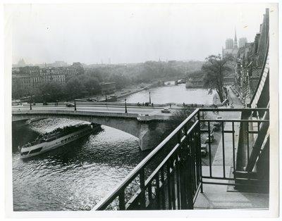 Bridges over the Seine from Helena Rubinstein's Paris apartment
