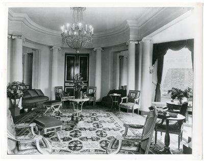 Grand salon of of the Paris apartment
