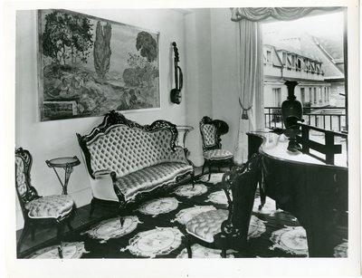 Music room in the Paris apartment