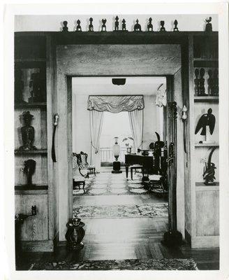 African Primitive Room in the Paris apartment