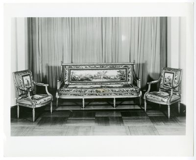Louis XVI tapestry covered furniture by George Jacob