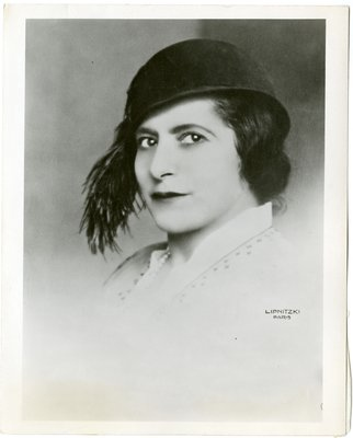 Helena Rubinstein in feathered cloche