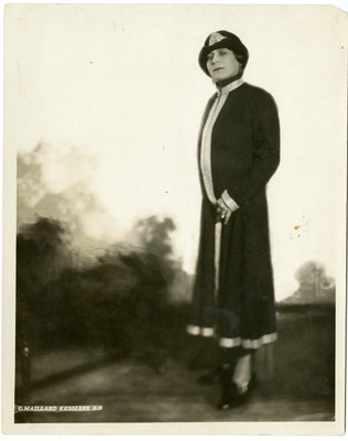 Helena Rubinstein in dress by Irfe