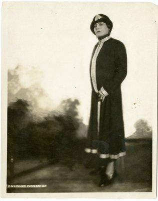Helena Rubinstein in dress by Irfe