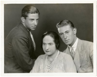Helena Rubinstein with sons Horace and Ray Titus