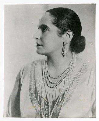 Helena Rubinstein in blouse by Schiaparelli