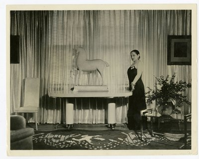 "Helena Rubinstein in the ""Treasure Room"" of her New York apartment"