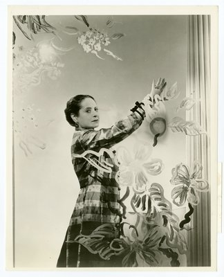 Helena Rubinstein photographed by Cecil Beaton in housecoat by Schiaparelli