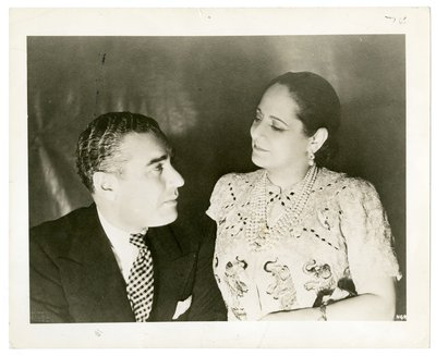 Helena Rubinstein in Schiaparelli with Artchil Gourielli on their honeymoon