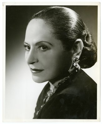 Helena Rubinstein three-quarter profile bust portrait