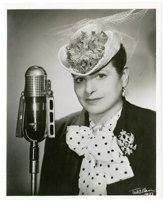 Helena Rubinstein with microphone