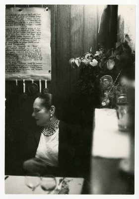 Helena Rubinstein at dinner in Paris