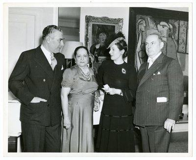 Helena Rubinstein, Artchil Gourielli, Mala Rubinstein and Edward S. Withowski