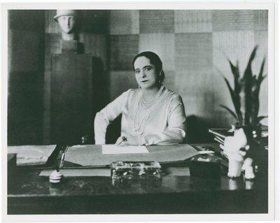 Helena Rubinstein wearing Schiaparelli blouse