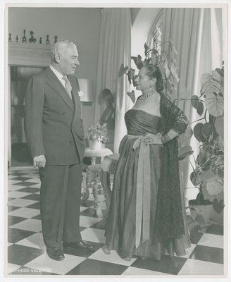 Helena Rubinstein in ruched dress  with Artchil Gourielli