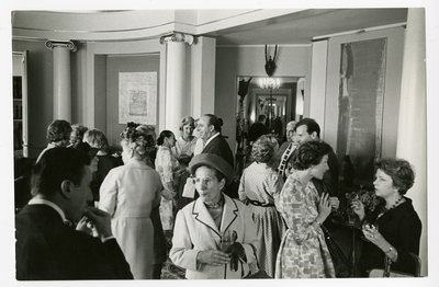 Fashion and beauty editors at a press party thrown by Rubinstein