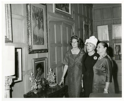 Helena Rubinstein with paintings by Degas and others